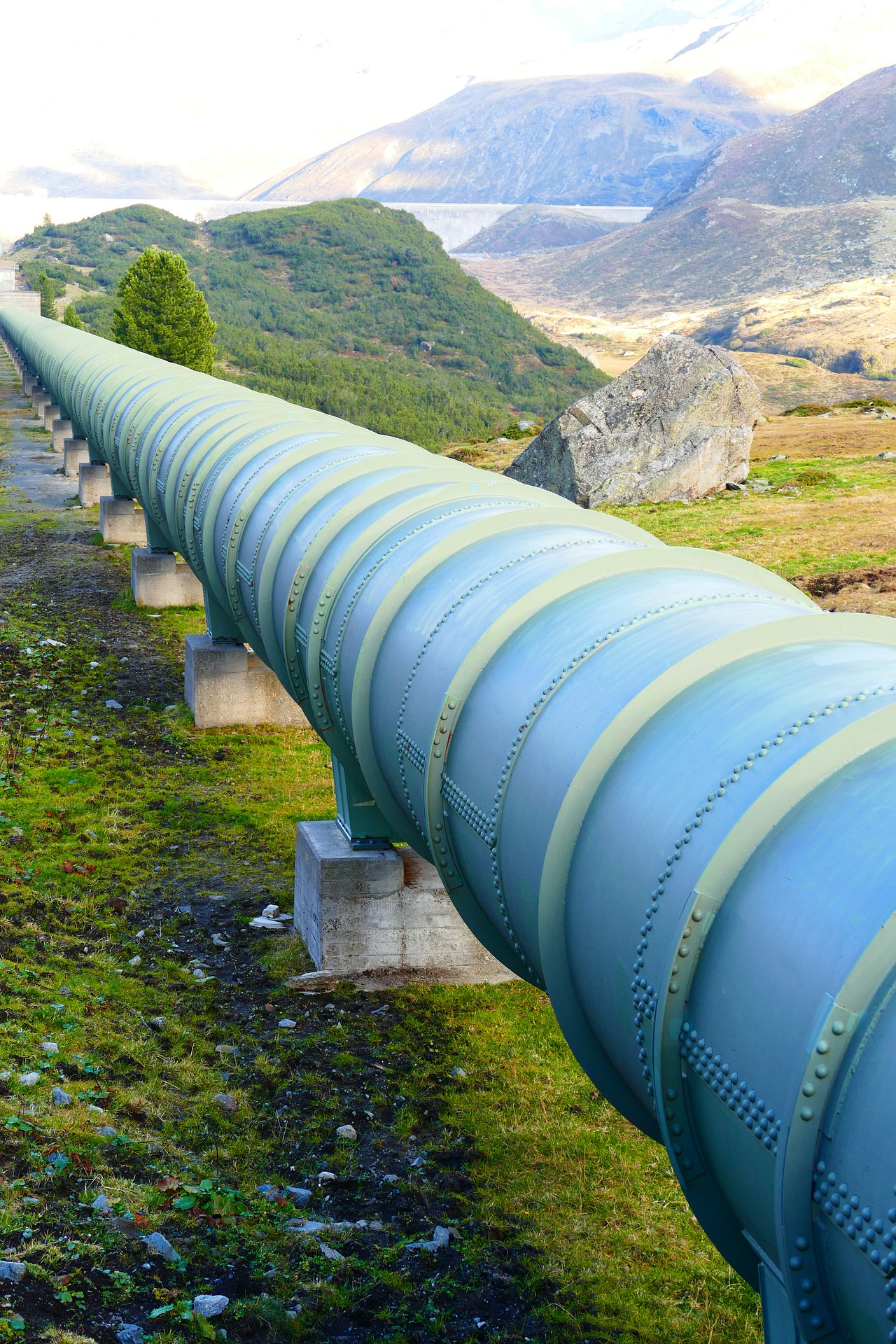 pipeline stretching into the distance